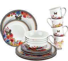 melli melo lenox melli mello porcelain 16pc dinnerware set page 1 qvc