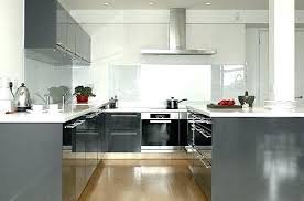 cuisine gris foncé cuisine grise et blanche idee de couleur de cuisine idee