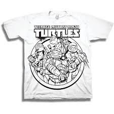 nickelodeon teenage mutant ninja turtles boys graphic diy color