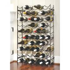 wine rack cast iron pair of wrought iron and butcher block wine