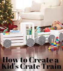 how to make a crate train diy projects for kids crate train