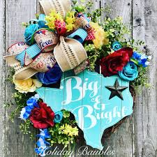 and turquoise big and bright wreath trendy tree custom