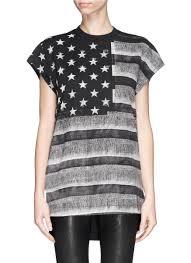 Black American Flag Tank Top Lyst Givenchy American Flag Photo Print Tank Top