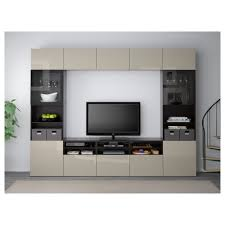 entertainment centers with glass doors bestå tv storage combination glass doors black brown selsviken