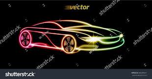 lexus logo design car logo design car form luminous stock vector 368289257