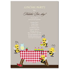 theme party invitation bee picnic by soulful moon
