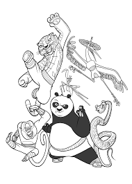 kung fu panda coloring pages for kids printable free coloring