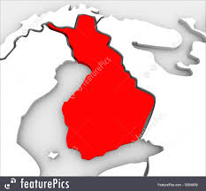 map of europe scandinavia signs and info finland country abstract 3d map europe