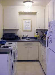 Small White Kitchen Design Kitchen Design Natural White Beige Floor Tiles Small Galley