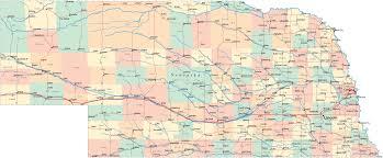 Interstate Highway Map Nebraska Road Map Ne Road Map Nebraska Highway Map