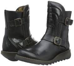 womens leather boots nz fly fly sven731fly black leather womens boots