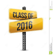 class of 2016 graduation class of 2016 road sign illustration design stock illustration