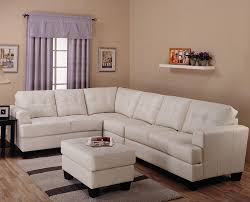 L Shaped Sofa by White Leather L Shaped Sectional Sofa Furniture Set And Striped