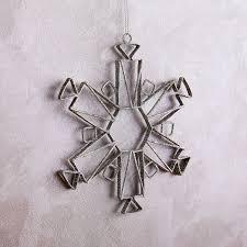 metal snowflake ornament west elm