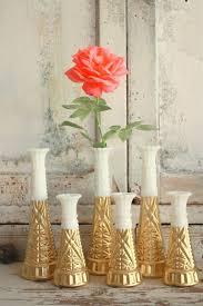bud vase garland milk glass angular vase milk glass milk glass and