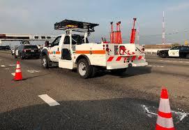 bay bridge traffic wreck kills toll taker driver arrested