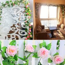 artificial rose garland flower vine ivy home decor wed direct