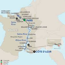 Paris France On A Map by Rhone River Cruises Avalon Waterways