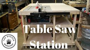 bosch safety table saw table saw station for bosch gts 10 j with axminster fence youtube