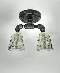glass insulator light kit decoration pendant light kit diy flush mount ceiling glass
