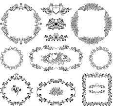 vintage ornamental frames 9 ai format free vector