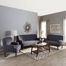baxton studio toni mid century modern dark grey fabric upholstered