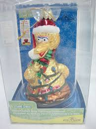 kurt adler sesame big bird glass ornament