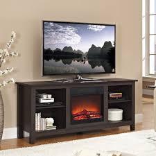 Dark Wooden Tv Stands Tv Stands Walker Edison Black Tvand For Tvs Up To 6850074db1e5 1