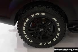 jeep safari 2014 modified tata safari storme tyre at autocar performance show 2014