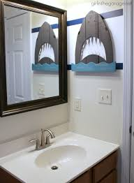 how to paint crisp stripes boys u0027 bathroom makeover in the