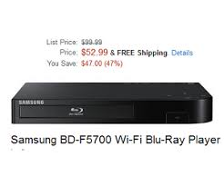 amazon black friday blu rays samsung bd f7500 4k upscaling 3d wi fi blu ray disc player deal at