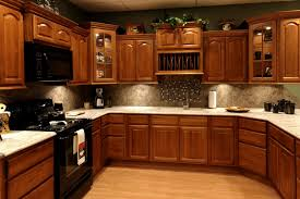 wood countertops kitchen wall colors with oak cabinets lighting