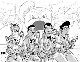 crafty design ideas ghostbusters coloring pages ghostbusters