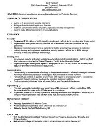 government armed security guard sample resume professional armed