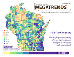 Wisconsin Maps by Publications Land Use Megatrends Center For Land Use Education