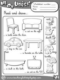 positional words kendergarten pictures positions ideas for