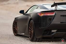 widebody lexus lfa satin black lexus lfa stuns on vossen wheels gtspirit