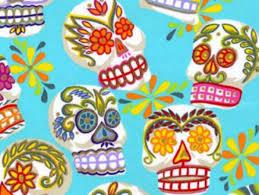 day of the dead fabric dia de los muertos
