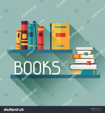 card books on bookshelves flat design เวกเตอร สต อก 209357566