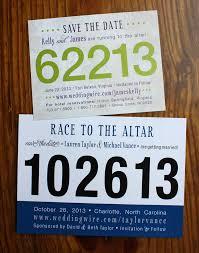 custom save the dates custom race bib wedding save the dates emdotzee designs