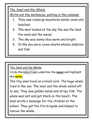 free the snail and the whale workbook 16 thinking hat worksheets