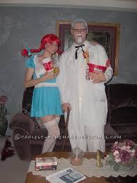 Sharknado Halloween Costume Fast Food Fashion Colonel Sanders Wendy Couple Costume