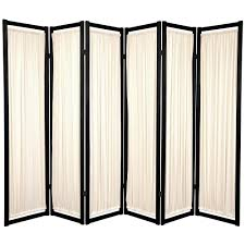 Movable Room Dividers by 6 Ft Black 6 Panel Room Divider Chls 6p Blk The Home Depot