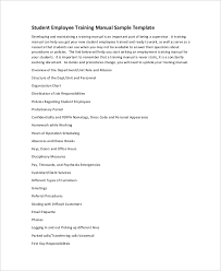 10 training manual template free sample example format free