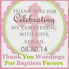 baptism thank you wording thank you messages christening baptism