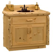 Rustic Bathroom Vanity Cabinets by Pine Log Bathroom Vanity Wholesale Log Vanity Minnesota