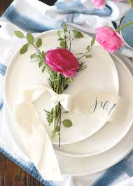 Table Setting Cards - rosemary ranunculus place card setting the table u2014 a fabulous