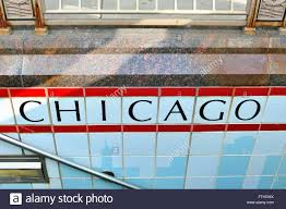 Cta Map Red Line The Station Name In Tile On An Entryway To The Cta Subway Station