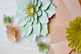 handmade glitter centre paper flower wall display by may contain