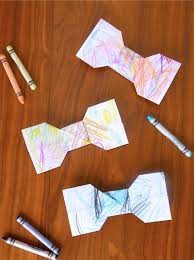 kid scribble origami bowtie easy father u0027s day gift kids can make
